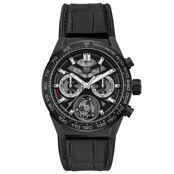 TAG Heuer Calibre Heuer 02 Tourbillon Automatic Chronograph - 45 mm